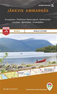 Outdoorkartan Jäkkvik Ammarnäs : Blad 5 skala 1:75000