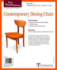 Fine Woodworking's Contemporary Dining Chair Plan