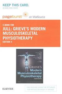 Grieve's Modern Musculoskeletal Physiotherapy Pageburst on VitalSource Access Code