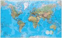 Världen väggkarta Norstedts stor 1:20 milj i tub : 1:20 milj