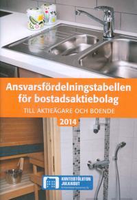 Ansvarsfördelningstabellen för bostadsaktiebolag 2014