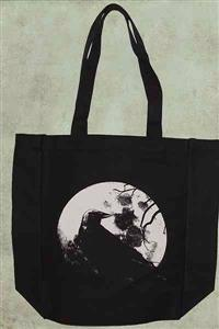 Raven - Black Canvas Tote