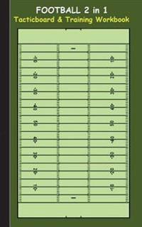 Football: 2 in 1 note- and tactic book with dry erase panel in compact format (postcard width) for trainers, coaches and players