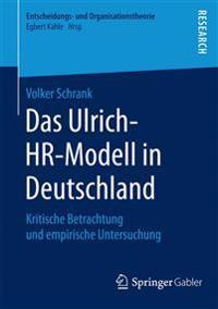 Das Ulrich-Hr-Modell in Deutschland