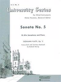 Sonata No. 5: Alto Saxophone Solo with Piano - Grade 4