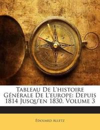 Tableau De L'histoire Générale De L'europe: Depuis 1814 Jusqu'en 1830, Volume 3