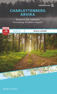 Outdoorkartan Charlottenberg Arvika : Blad 15 skala 1:50000