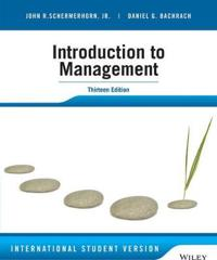 Introduction to Management, 13th Edition International Student Version
