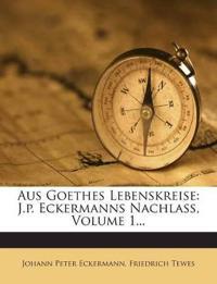 Aus Goethes Lebenskreise: J.p. Eckermanns Nachlass, Volume 1...