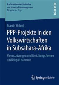 Ppp-projekte in Den Volkswirtschaften in Subsahara-afrika