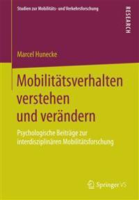 Mobilit tsverhalten Verstehen Und Ver ndern