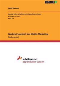 Werbewirksamkeit Des Mobile Marketing