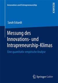 Messung Des Innovations- Und Intrapreneurship-Klimas