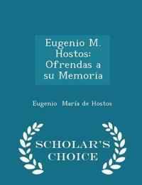 Eugenio M. Hostos