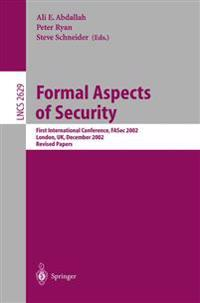 Formal Aspects of Security