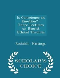 Is Conscience an Emotion?