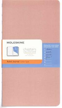 Moleskine Chapters Journal, Slim Large, Ruled, Old Rose Cover
