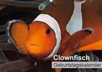 Clownfisch Geburtstagskalender (Wandkalender immerwährend DIN A2 quer)