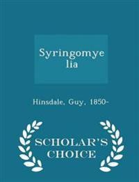 Syringomyelia - Scholar's Choice Edition