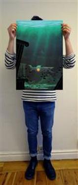 Jules Verne - En världsomsegling under havet (Telegram klassiker affisch)