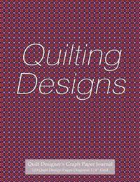 "Quilt Designer's Graph Paper Journal 120 Quilt Design Pages 1/4"" Diagonal Grid: Diagonal Grid Graph Paper Notebook, 4 Squares to an Inch, with Purple-"