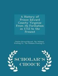 A History of Prince Edward County Virginia