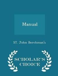 Manual - Scholar's Choice Edition