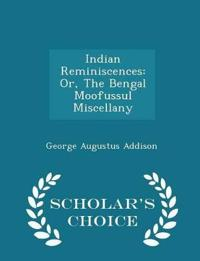 Indian Reminiscences
