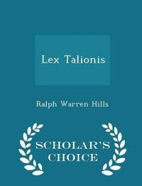 Lex Talionis - Scholar's Choice Edition