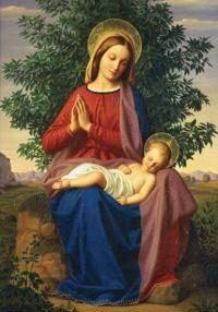 Madonna and Child Holiday Half Notecards