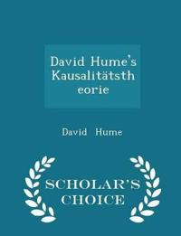 David Hume's Kausalitatstheorie - Scholar's Choice Edition