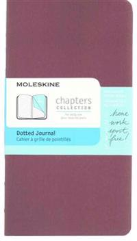 Moleskine Chapters Journal, Slim Pocket, Dotted, Plum Purple Cover