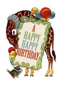 Circus Giraffe Birthday Greeting Cards [With Envelope]