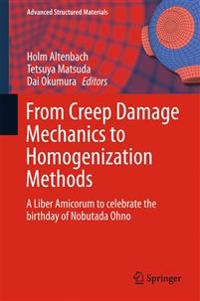 From Creep Damage Mechanics to Homogenization Methods