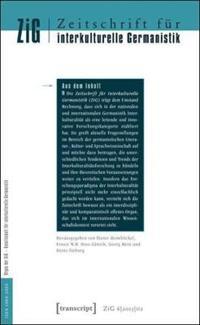 Zeitschrift Für Interkulturelle Germanistik/ Journal of Intercultural German Studies 2015