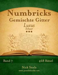 Numbricks Gemischte Gitter Luxus - Schwer - Band 7 - 468 Ratsel