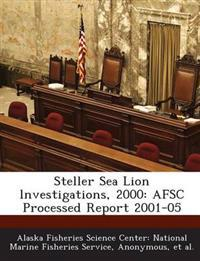 Steller Sea Lion Lnvestigations, 2000