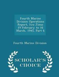 Fourth Marine Division Operations Report, Iwo Jima