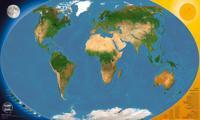 Pimeässä hohtava maailmankartta (100x60 cm)