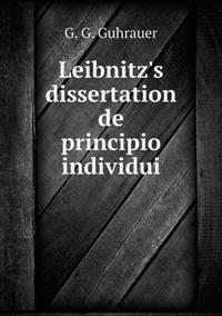 Leibnitz's Dissertation de Principio Individui