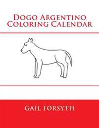 Dogo Argentino Coloring Calendar
