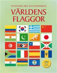 Världens flaggor : pysselbok med klistermärken
