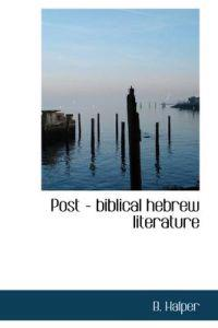Post - Biblical Hebrew Literature