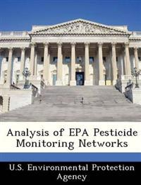 Analysis of EPA Pesticide Monitoring Networks