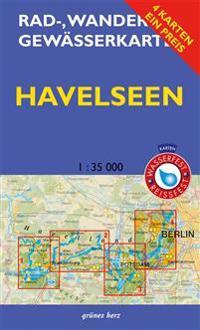 Rad-, Wander- und Gewässerkarten-Set: Havelseen 1 : 35 000