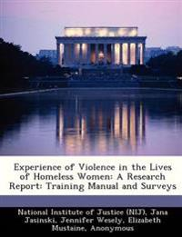 Experience of Violence in the Lives of Homeless Women