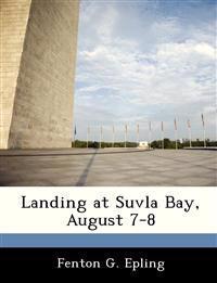 Landing at Suvla Bay, August 7-8