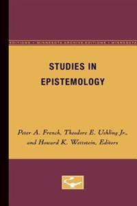 Studies in Epistemology