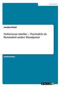 Defixionum Tabellae - Fluchtafeln ALS Bestandteil Antiker Ritualpraxis