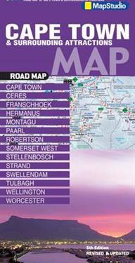 Road map Cape Townsurrounding attractions